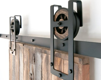 Elegant Rustic Industrial European Square Horseshoe Sliding Steel Barn Wood Door  Closet Hardware Track