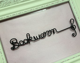A Wire Bookmark,A Custom Wire Name Bookmark with a Treble Clef, A Personalized Wire Bookmark, A Music Wire Bookmark with A Custom Name