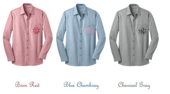 Oversized Monogrammed Chambray Shirts (Three colors!)