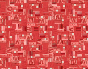 Red Signals, Take Flight, from Camelot Fabrics
