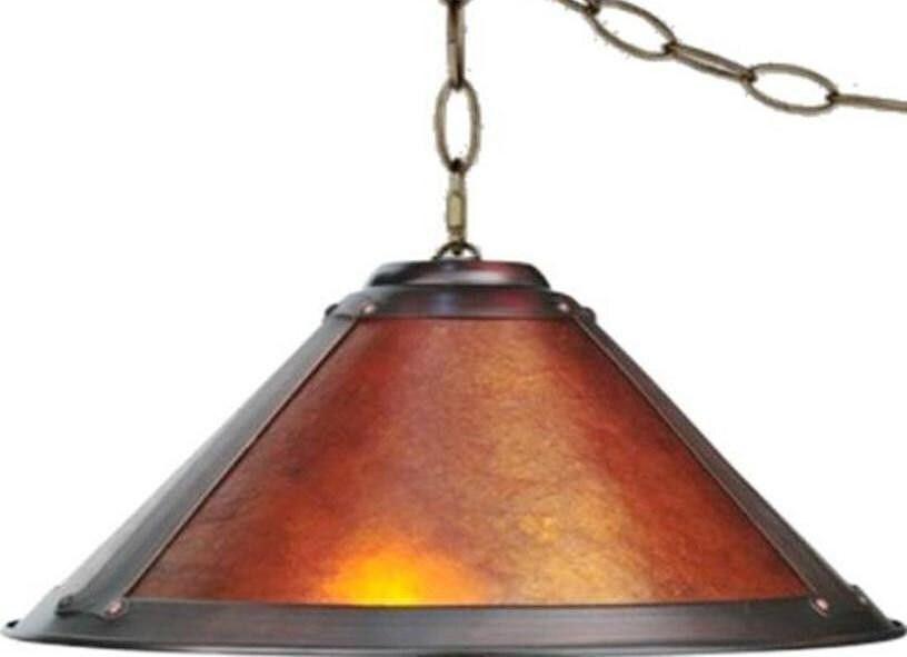 Mica Swag Lamp Pendant Light 17w 2 Light Art Deco By