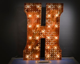 double trouble fontmarquee letter lighted metal marquee sign marquee light marquee - Lighted Marquee Letters