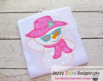 Snow Woman Applique Design