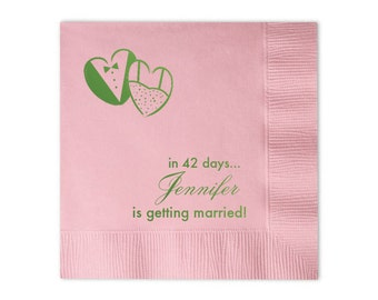 100 Personalized Napkins Personalized Napkins Bridal Shower  Wedding Napkins Custom Monogram