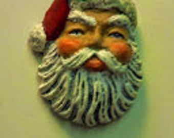 Small Santa Head Magnet