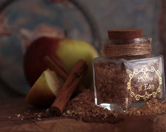 CINNAMON & APPLE Flavored Sugar -Phoenix of Eden, Birthday gift, Wedding favor