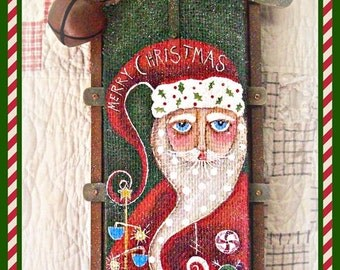 Burlap Santa- Painted by Martha Smalley, Painting With Friends E Pattern
