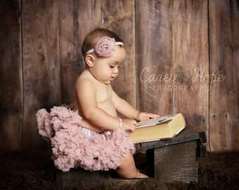 BABY TUTU PETTISKIRT: baby tutu, vintage pink tutu. chiffon pettiskirt, chiffon tutu,  princess tutu, newborn, baby photo prop