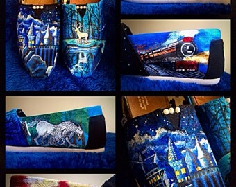 Custom painted Harry Potter Toms! Designed and personalized just for you!