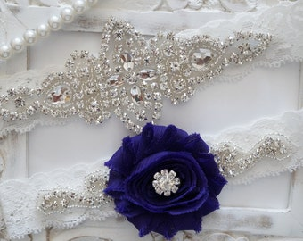 Wedding Garter Set, Bridal Garter Set, Vintage Wedding, Ivory Lace Garter- Style 100D