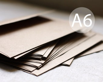 "25 Kraft Envelopes - A6 size - 4x6 kraft brown envelope (true size 4 3/4"" x 6 1/2"")"