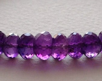 Exquisite African Amethyst Rondelle bead strand