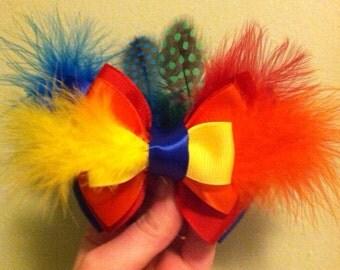 SALE Feather Bird Bow