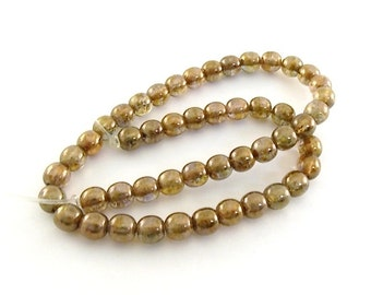 Beads Small Brown Glass 6mm