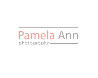 Pre-made Logo Design & Photography Watermark - Logo Template for Branding - Watermark Design - Premade Photography Logo - Photo Logo 231