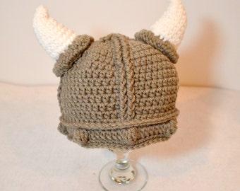 Toddler Viking Hat, Baby crochet viking beanie, Halloween costume