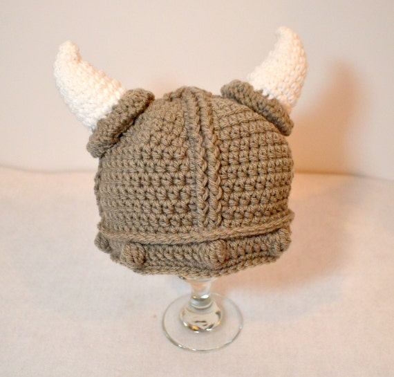Crochet Viking Hat : Toddler Viking Hat, Baby crochet viking beanie, Halloween costume