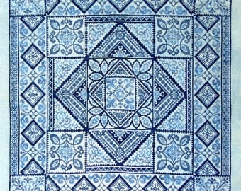 Shades of Blue PDF Chart by Northern Expressions Needlework