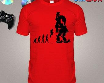 Video Game Inspired T-shirt Titan Evolution Tshirt Mecha Robot Gaming 8bit Gamer Top Pixel FPS S-XXL Shirt