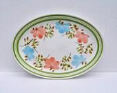 Italian Pottery Platter - San Giovanni Valdarno - Industria Ceramica - Vintage