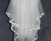 Lace veil elbow veil veil ivory white bridal veil bridal veil wedding supplies 2 layer elbow veil lace veil new designs