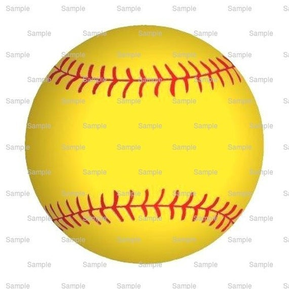 Softball Birthday - Edible Cake and Cupcake Topper For Birthday's and Parties! - D1132