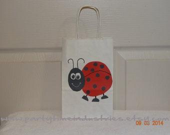 10 Ladybug Favor/Goodie/Candy Bag
