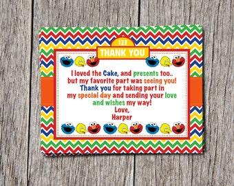 Sesame Street Thank You Cards (Elmo, Cookie Monster, Big Bird)
