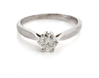 Diamond solitaire ring-Solitaire diamond engagement ring-wedding ring-Solitaire rings-Promise ring-Wedding & Engagement-diamond band-present