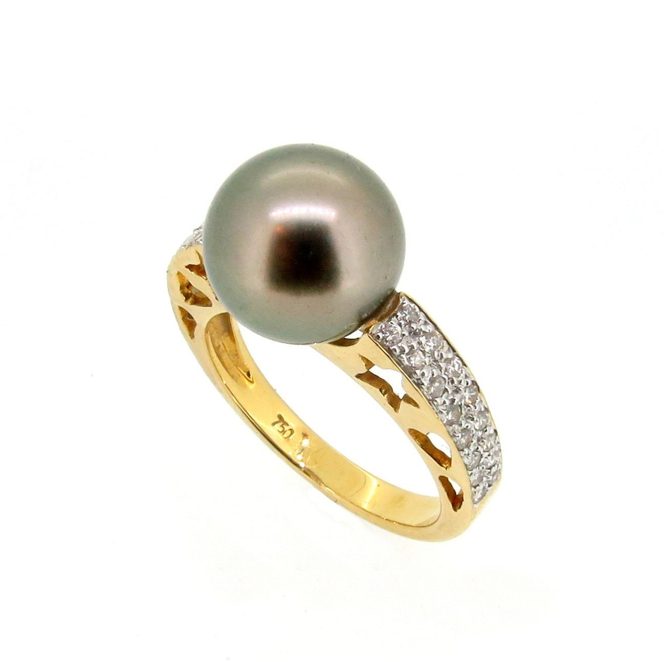 black tahitian pearl engagement ring anniversary