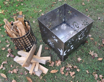 Outdoor Fire-Pit, Stars and Moons, Square