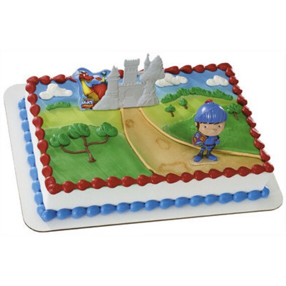 Mike The Knight Cake Topper Kit Birthday Party by BigCatCrafts