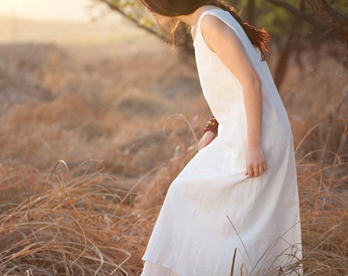 Women dress - Sleeveless Dress - Summer dress - Long dress - Cotton dress - Made to order