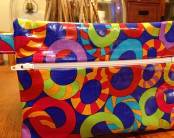 "Zipper Pouch, 7""x5"" JOLLY COBALT, front zip"