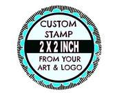 Custom Stamp - Custom Logo Stamp - Custom Rubber Stamp - Branding Stamp 2x2 inches