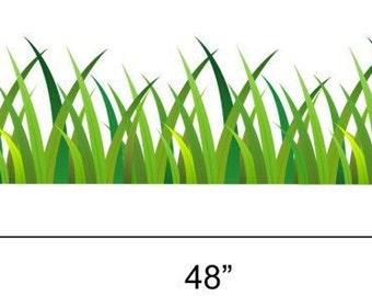 Grass Wall Decal Cm Length Green Grass - Wall decals grass