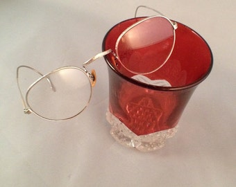 1930 Bausch & Lomb White Gold Eyeglasses