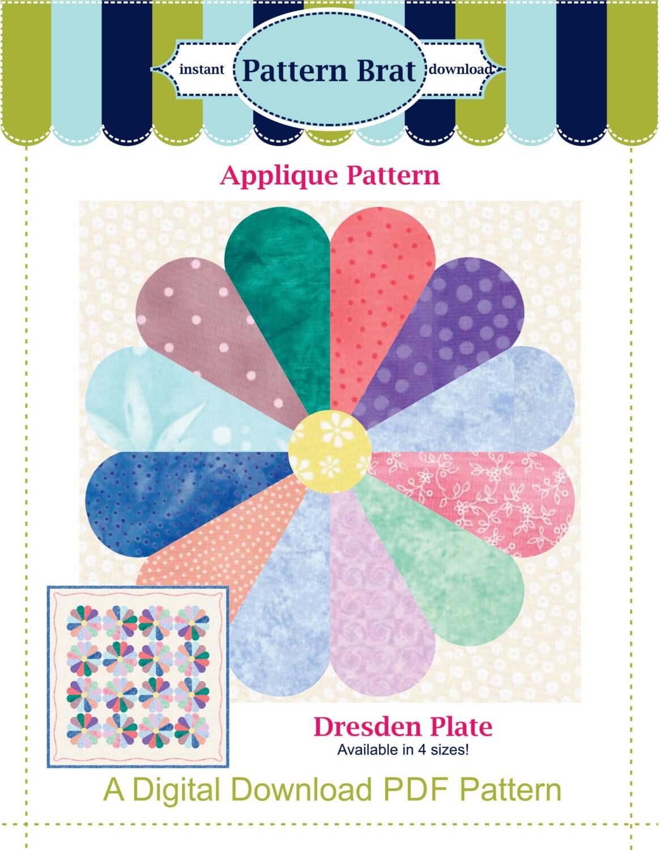 Dresden Plate Quilt Pattern Quilt Block Pattern Instant