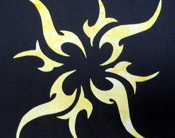 Tribal Sun Quilt Applique Pattern Design