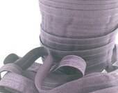 5/8 Shadow purple fold over elastic, FOE, Wholesale elastic, headband elastic, diy hair ties, elastic by the yard