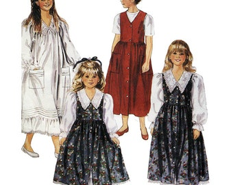 McCall's Sewing Pattern 6042 Children's and Girls Dress and Jumper  Size:  6-7  Used