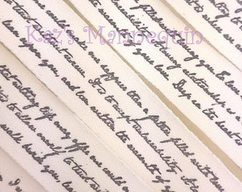 Cotton Ribbon with Cursive Script writings printed!