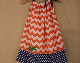 Toddler Girls Gator Pillow Case Dress