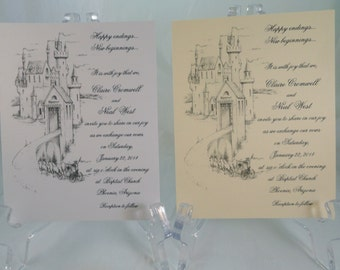 50 CASTLE Invitations for Weddings or any Occasion Customized for You
