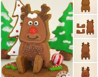 Rudy The Reindeer Cookie Cutter Kit