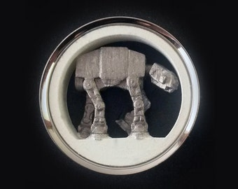 "Star Wars Plugs AT-AT Walker Pair 7/16"" - 2"" 316L Surgical Steel Tunnels 3D Printed 16mm 25mm 30mm 31mm 32mm 35mm 38mm 41mm 47mm 48mm 50mm"