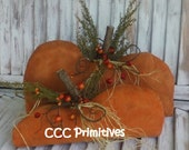 Primitive Fall Painted Pumpkin Set - Primitive Fall Decor - Fall Home Decor - Autumn Pumpkins