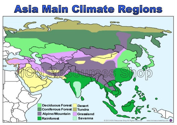 Climate Zone Map Of Asia.Asia Climate Zones