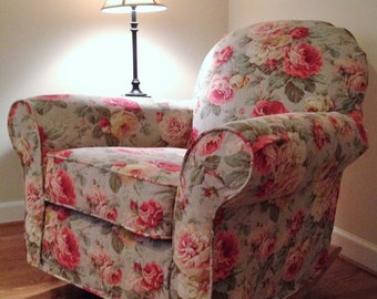 Custom Slipcover for Pottery Barn Dream Swivel Glider made from YOUR own fabric!