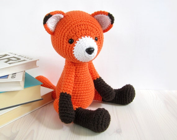 PATTERN: Red Fox - Amigurumi fox pattern - Crochet tutorial with photos